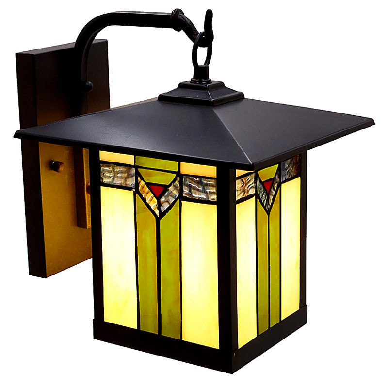 Mission Craftsman Stained Glass Wall Sconce - 97