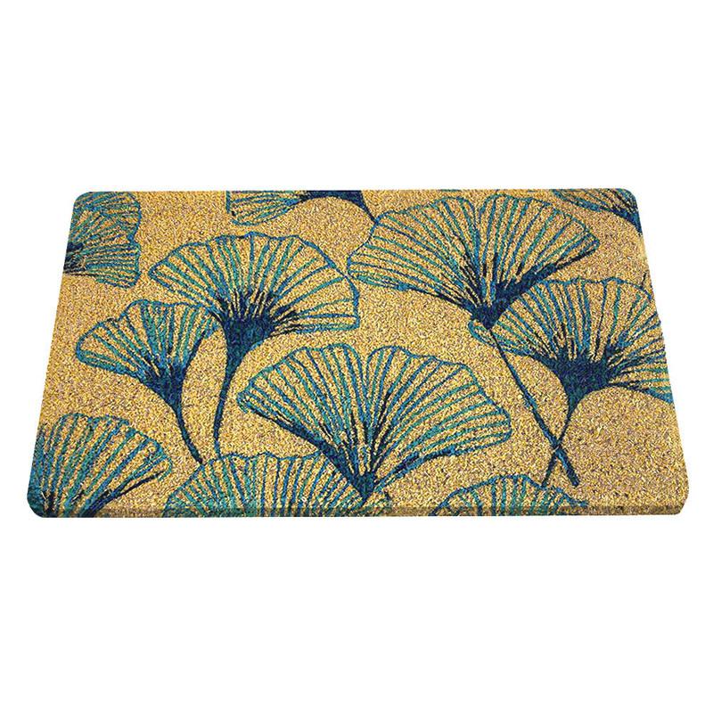 Arts & Crafts Gingko Handwoven Doormat
