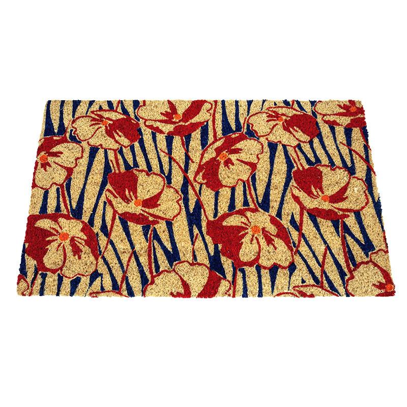 Arts & Crafts Poppy Field Coir Doormat