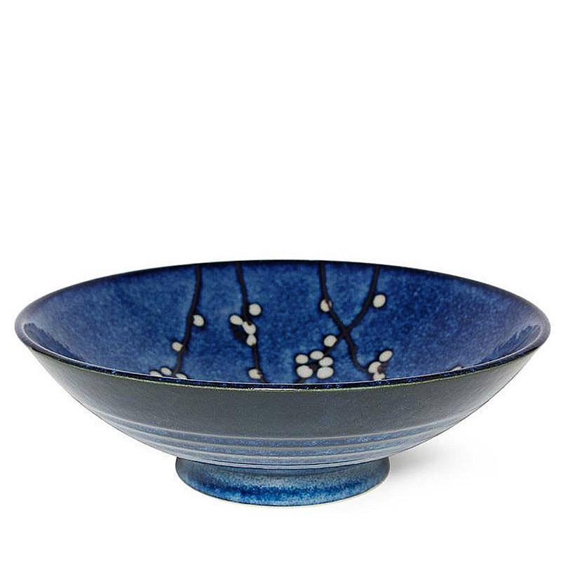 "Japanese Namako Blossoms 9.75"" Serving Bowl"