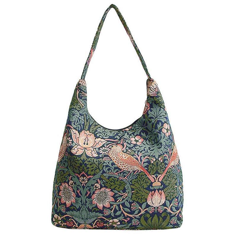 William Morris Strawberry Thief Tapestry Shoulder Bag