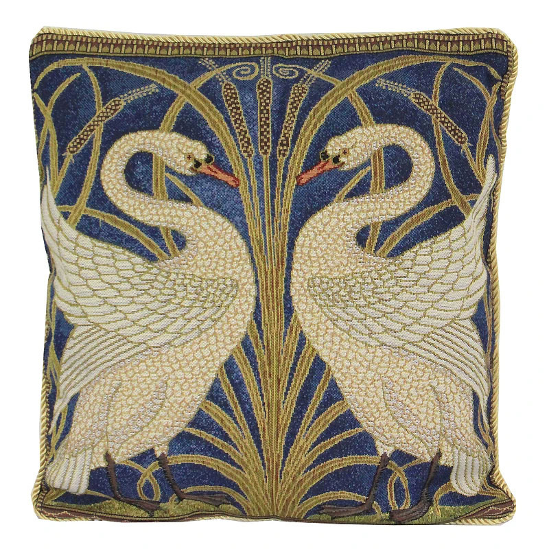 Walter Crane Swan Tapestry Pillow