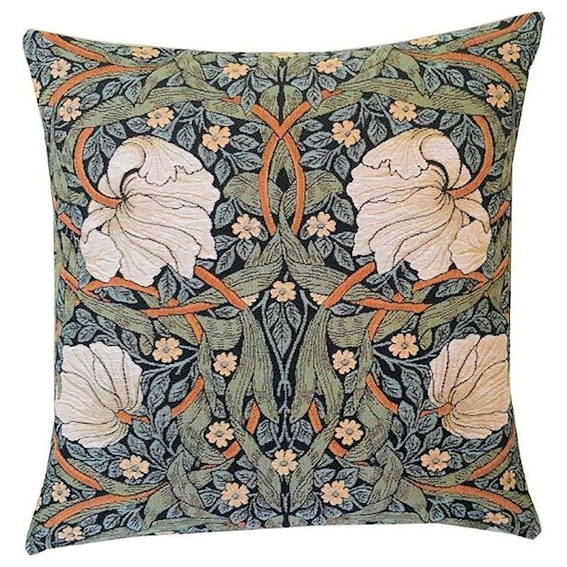 William Morris Pimpernel Sage Tapestry Pillow