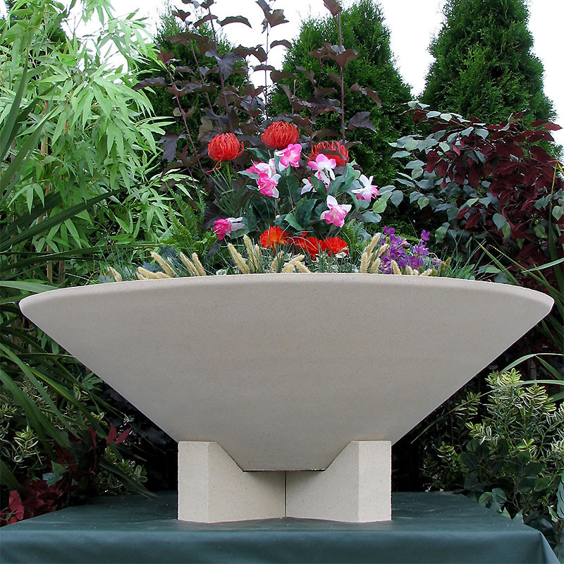 Essex Bowl Large Planter Vase With Feet
