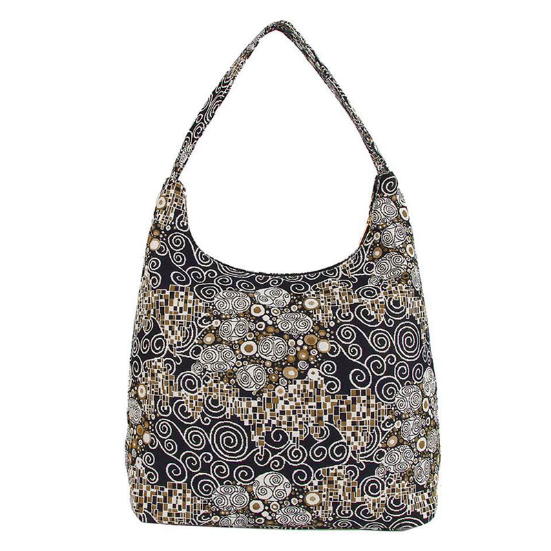 Gustav Klimt The Kiss Tapestry Hobo Shoulder Bag