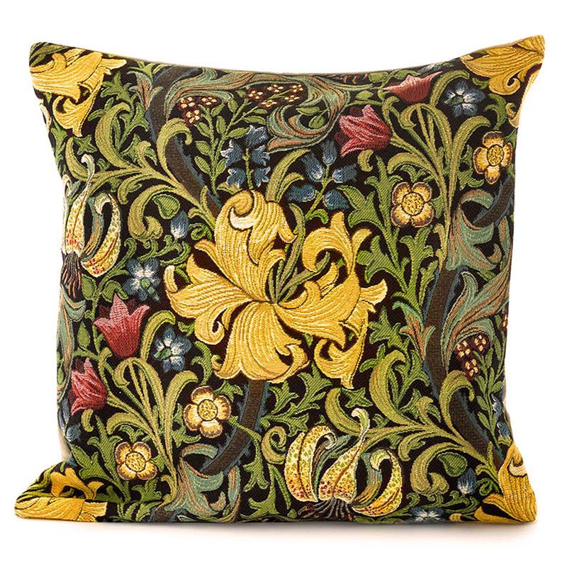 William Morris Golden Lily Belgian Tapestry Pillow
