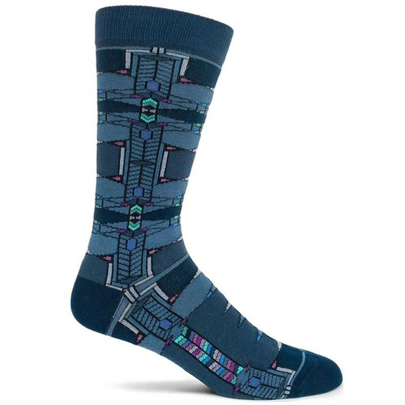 Frank Lloyd Wright Men's Robie Socks - Navy