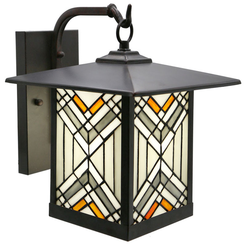 Mission Craftsman Stained Glass Wall Sconce - 96