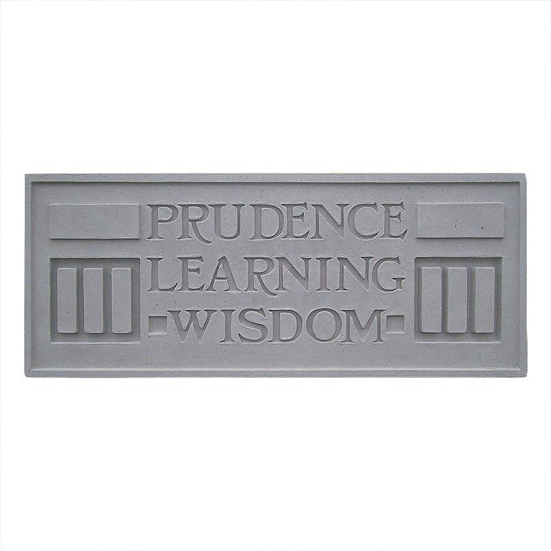 Frank Lloyd Wright Larkin Cast Stone Plaque - Prudence, Learning, Wisdom