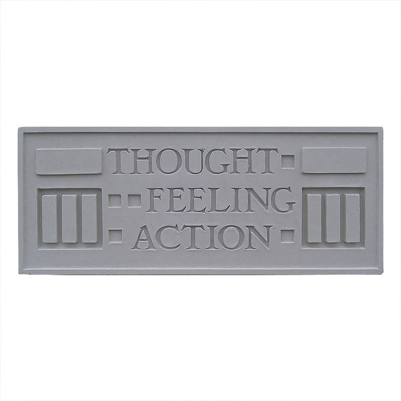 Frank Lloyd Wright Larkin Cast Stone Plaque - Thought, Feeling, Action