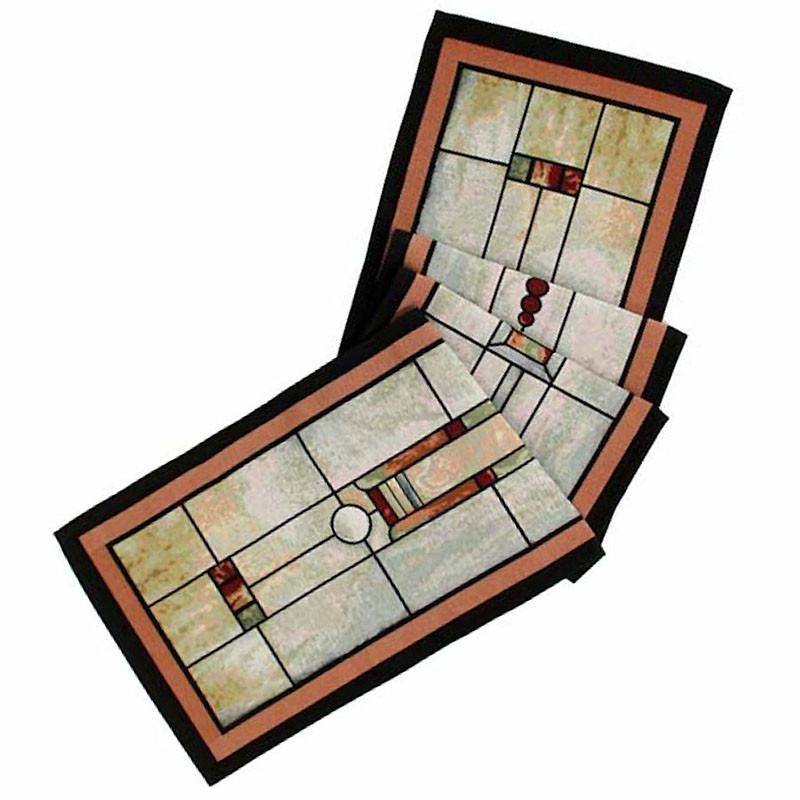 Louis Sullivan F&M Union Bank Window Tapestry Table Runner - Folded