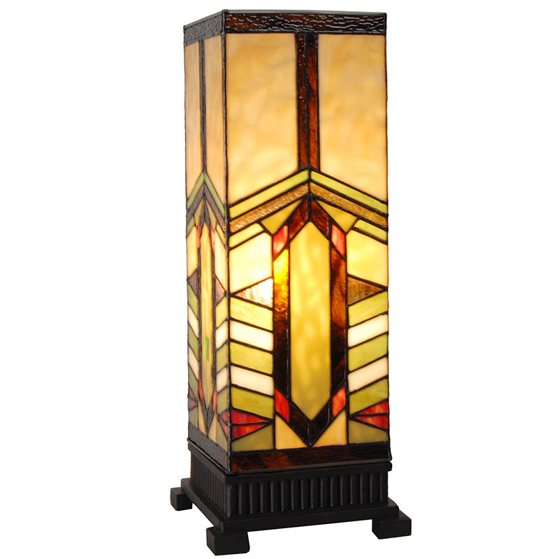 Rohan Mountain Pillar Stained Glass Accent Lamp