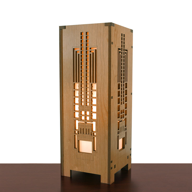 Frank Lloyd Wright Hollyhock Mini Lightbox Accent Lamp