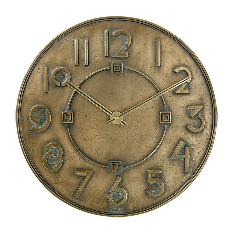 Frank Lloyd Wright Exhibition Font Wall Clock