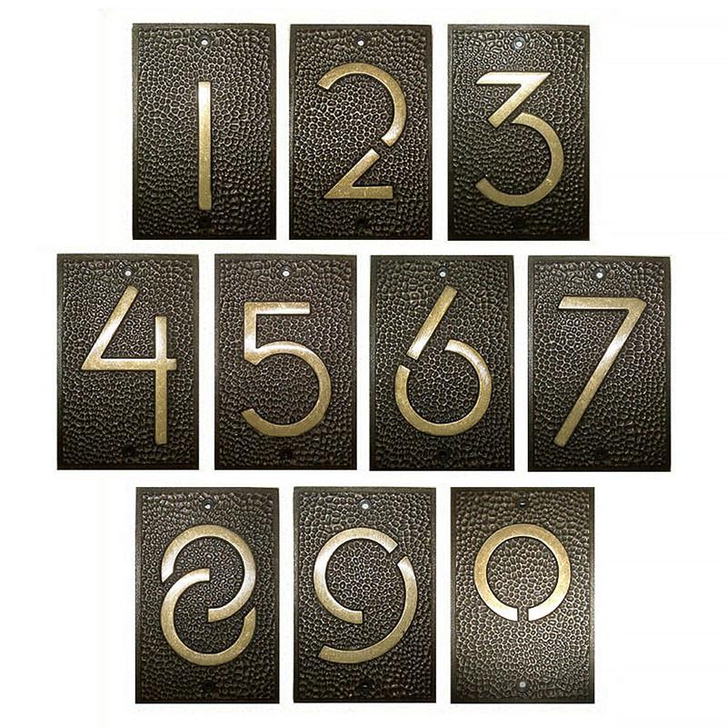 Frank Lloyd Wright House Numbers Bronze Finish