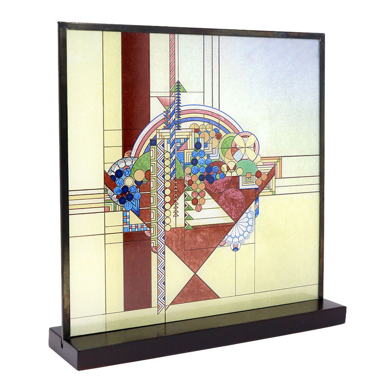 Frank Lloyd Wright May Basket Stained Glass