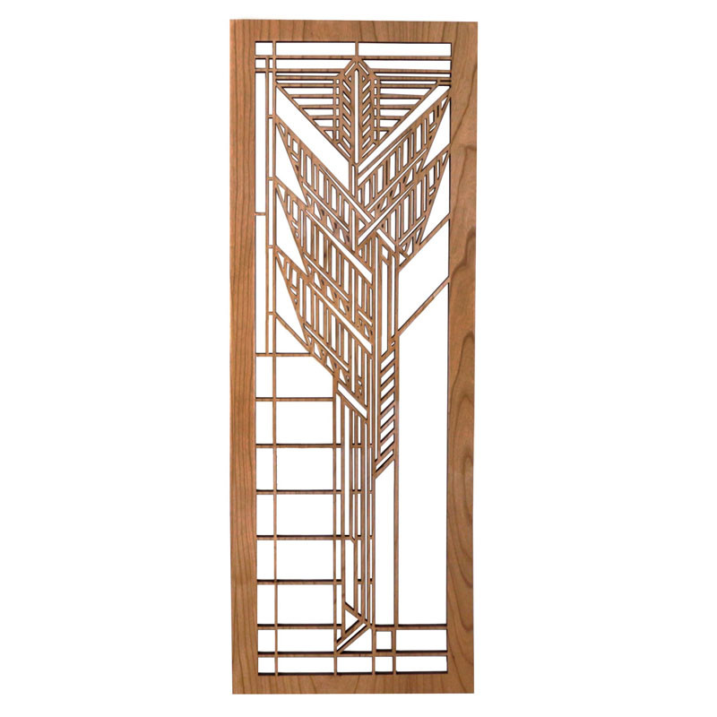 Frank Lloyd Wright Dana Sumac Wood Art Screen Wall Panel Cherry
