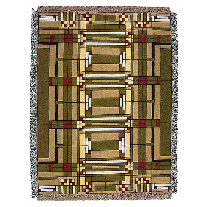 Frank Lloyd Wright Oak Park Tapestry Throw