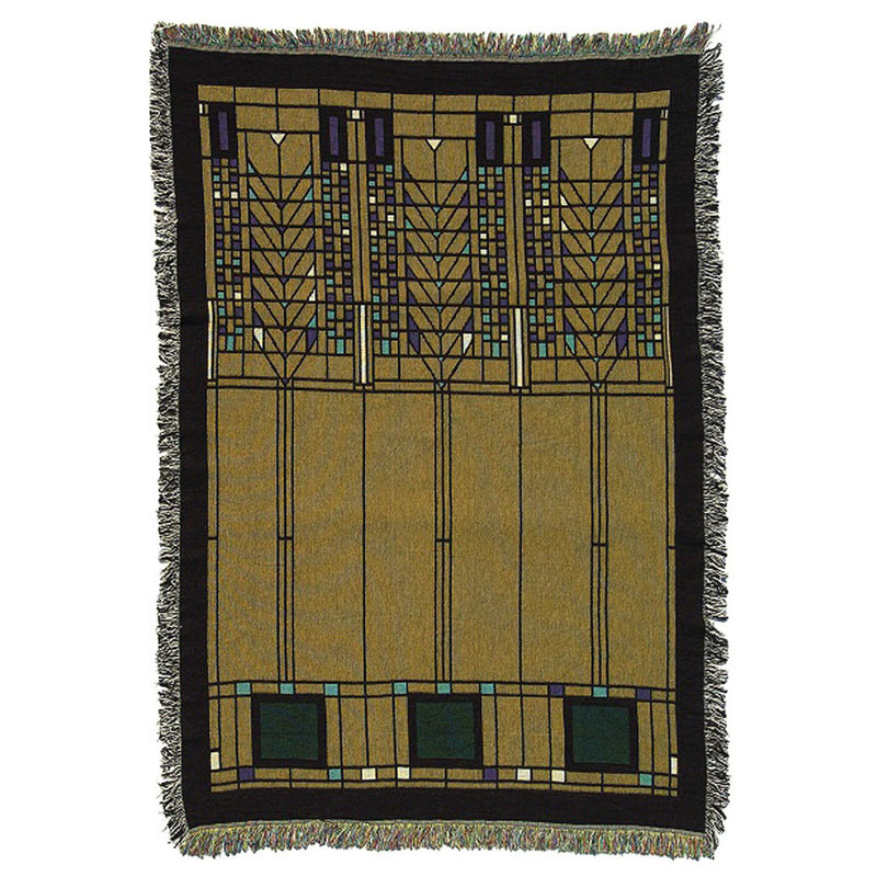 Frank Lloyd Wright Tree of Life Tapestry Throw