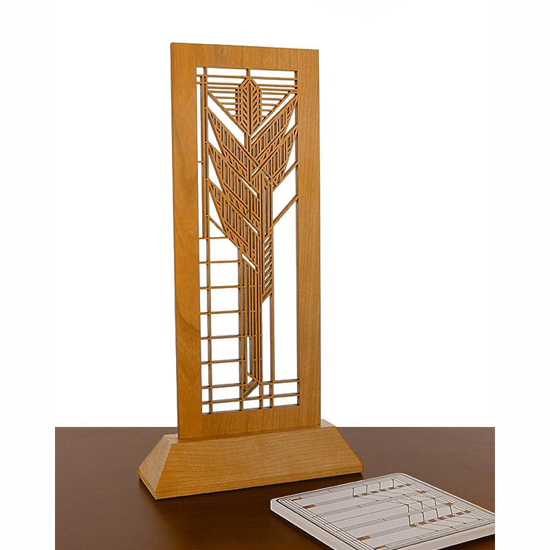 Frank Lloyd Wright Dana Sumac Laser-Cut Wood Mini Screen
