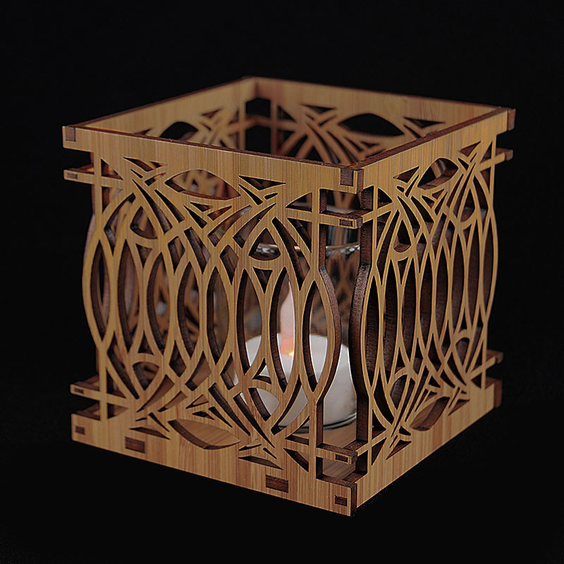 Frank Lloyd Wright Blossom House Wood Votive