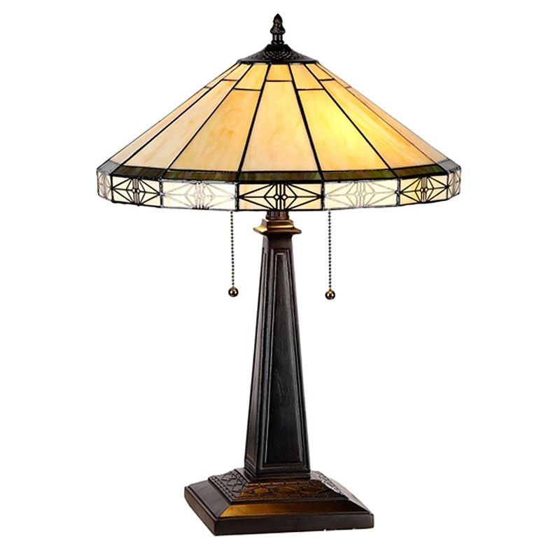 Arts & Crafts Belle Stained Glass Table Lamp