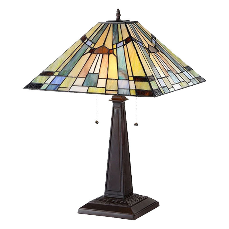 Arts & Crafts Kinsey Stained Glass Table Lamp
