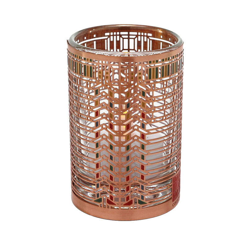Frank Lloyd Wright Martin House Casement Copper / Enamel Votive