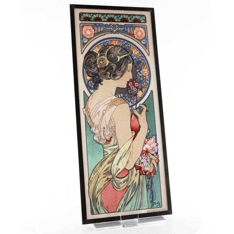 Alphonse Mucha Primrose Stained Glass