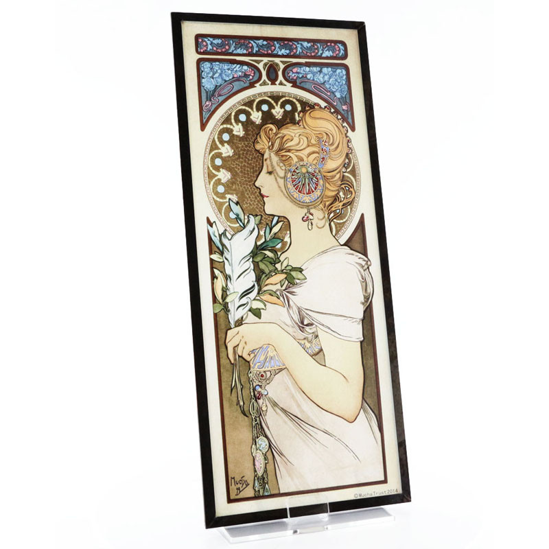 Alphonse Mucha Feather Stained Glass