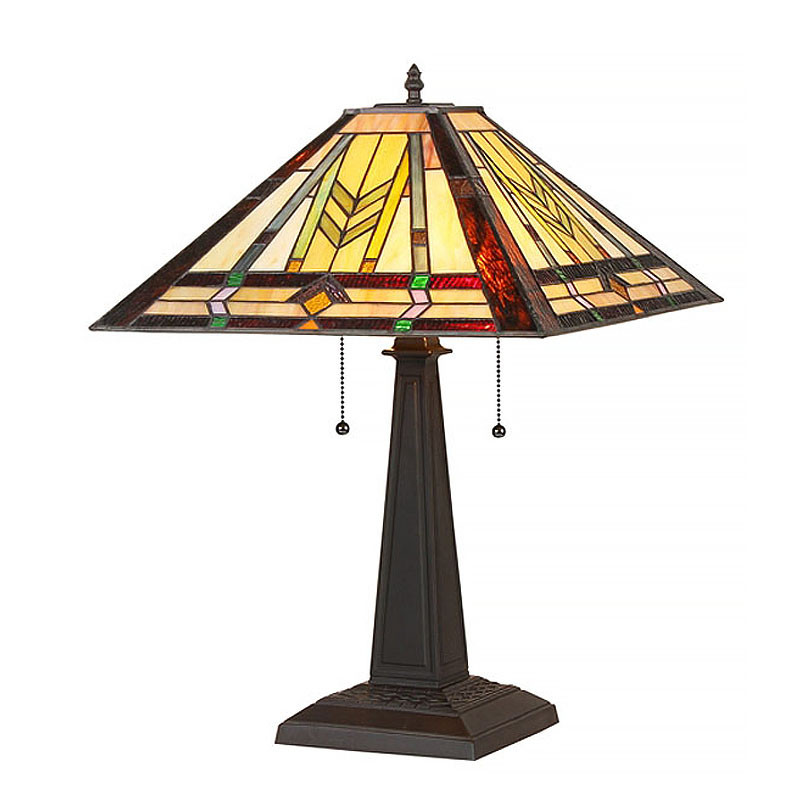 Arts & Crafts Nathan Stained Glass Table Lamp