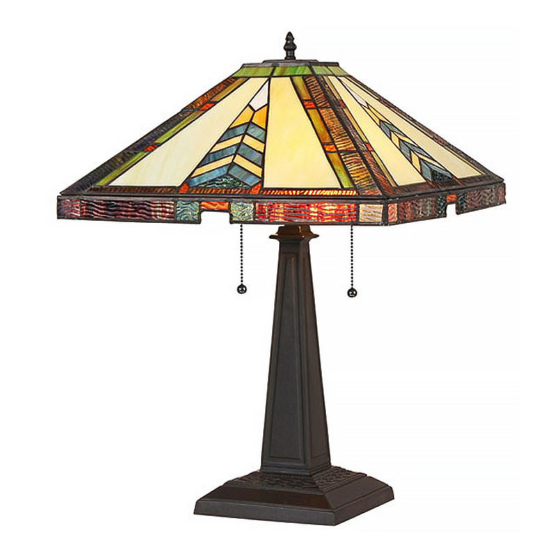 Arts & Crafts Jagger Stained Glass Table Lamp
