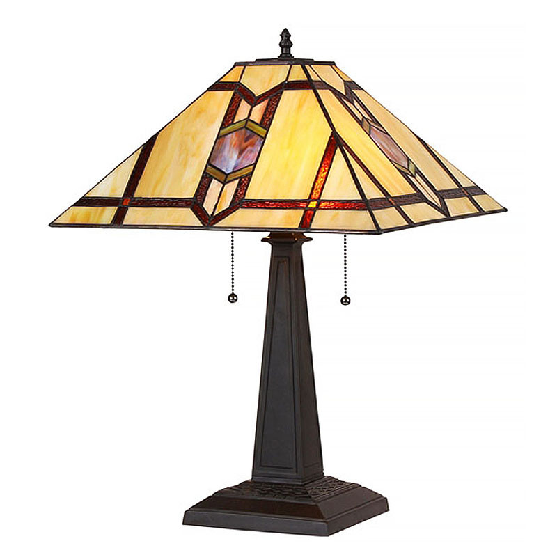 Arts & Crafts Lawrence Stained Glass Table Lamp