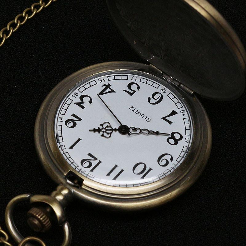 Vintage Style Art Deco Pocket Watch Pendant 3