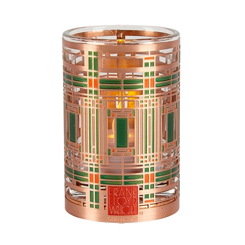 Frank Lloyd Wright Oak Park Skylight Copper / Enamel Votive