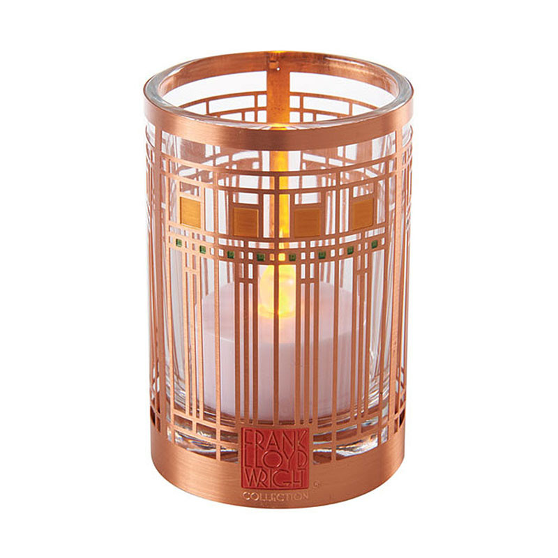 Frank Lloyd Wright Oak Park Playroom Copper / Enamel Votive
