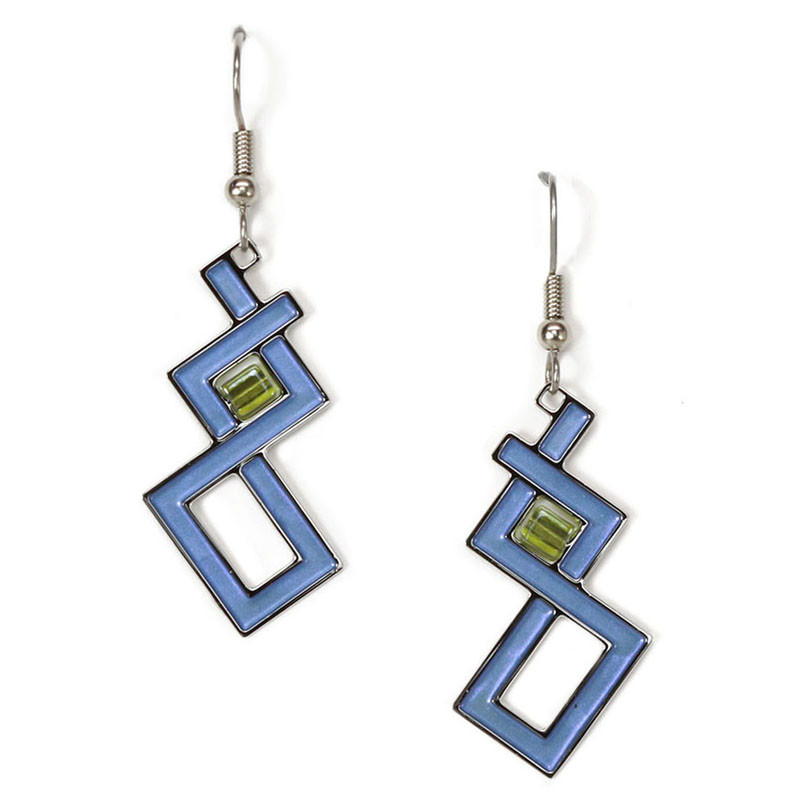 Sullivan Auditorium Window Blue Earrings