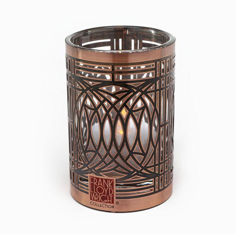 Frank Lloyd Wright Blossom House Copper / Enamel Votive