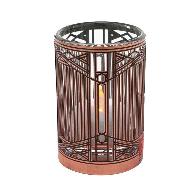 Frank Lloyd Wright Evans House Copper / Enamel Votive