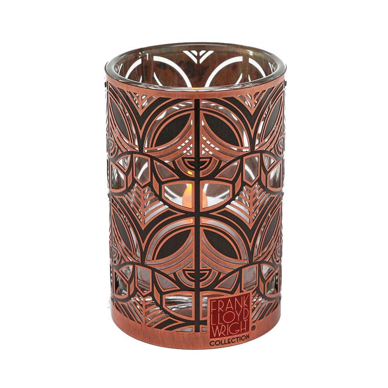 Frank Lloyd Wright Annunciation Greek Orthodox Copper / Enamel Votive