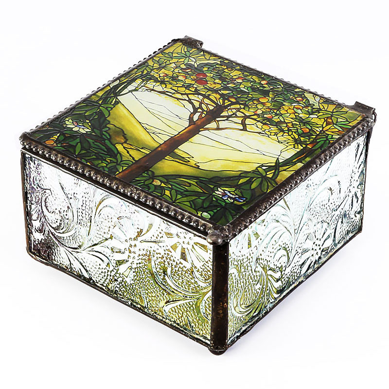 Tiffany Tree of Life Design Trinket Box