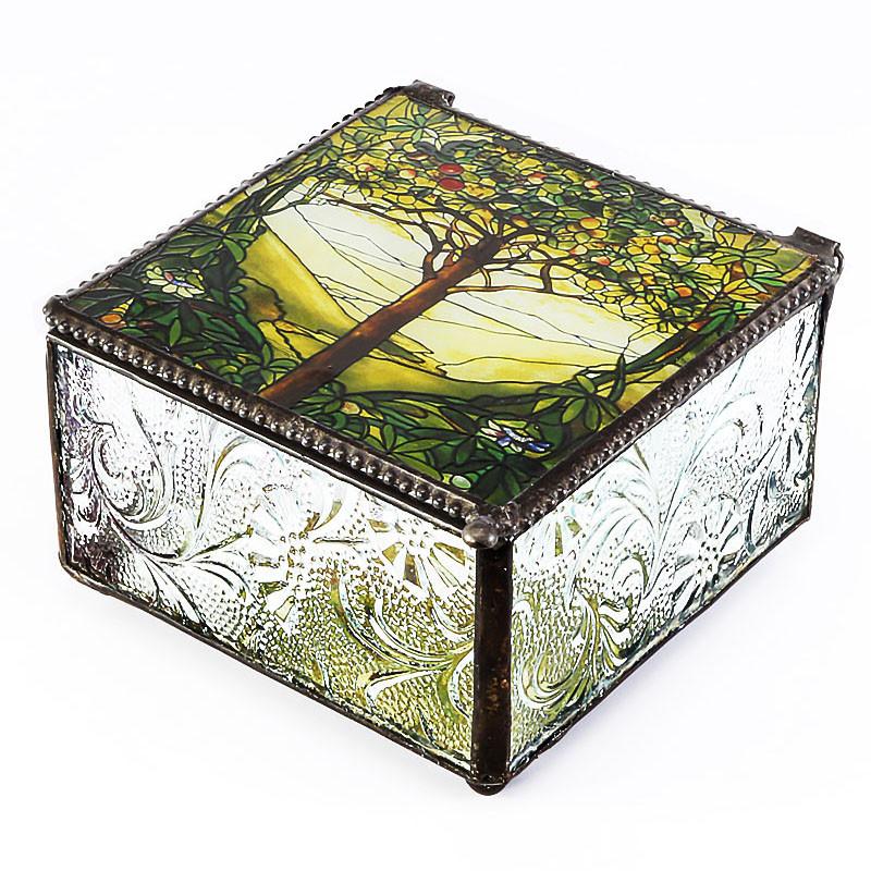 Tiffany Tree of Life Design Trinket Box
