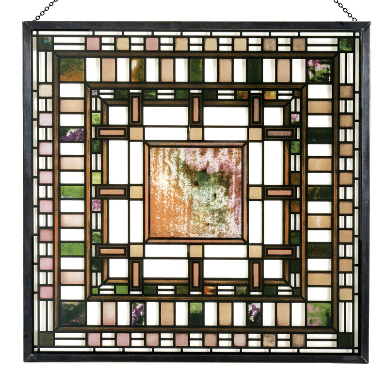 Frank Lloyd Wright Martin House Pier Cluster Stained Glass