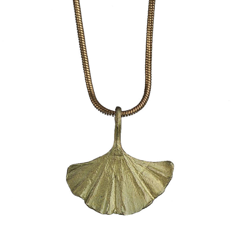 Ginkgo Leaf Bronze Pendant by Michael Michaud