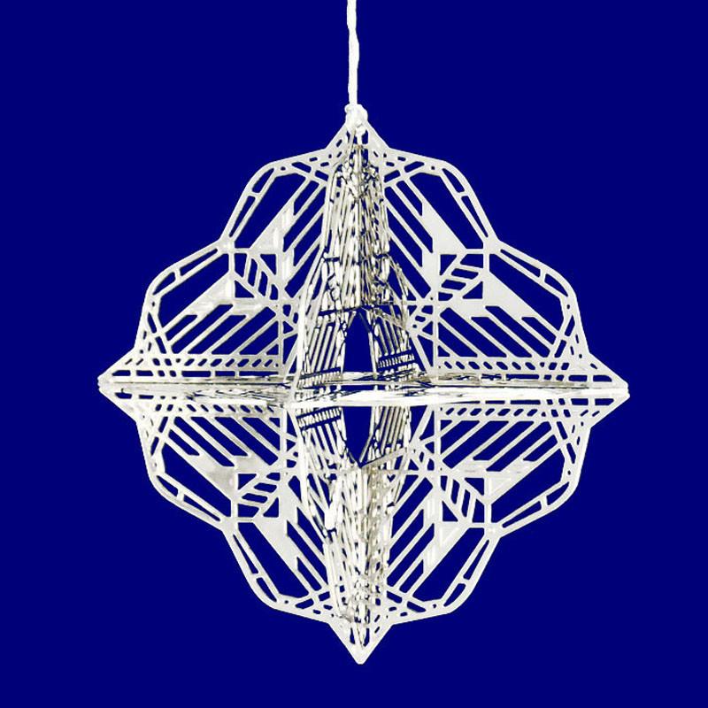 Frank Lloyd Wright Dana-Thomas Butterfly 3D Gift Ornament