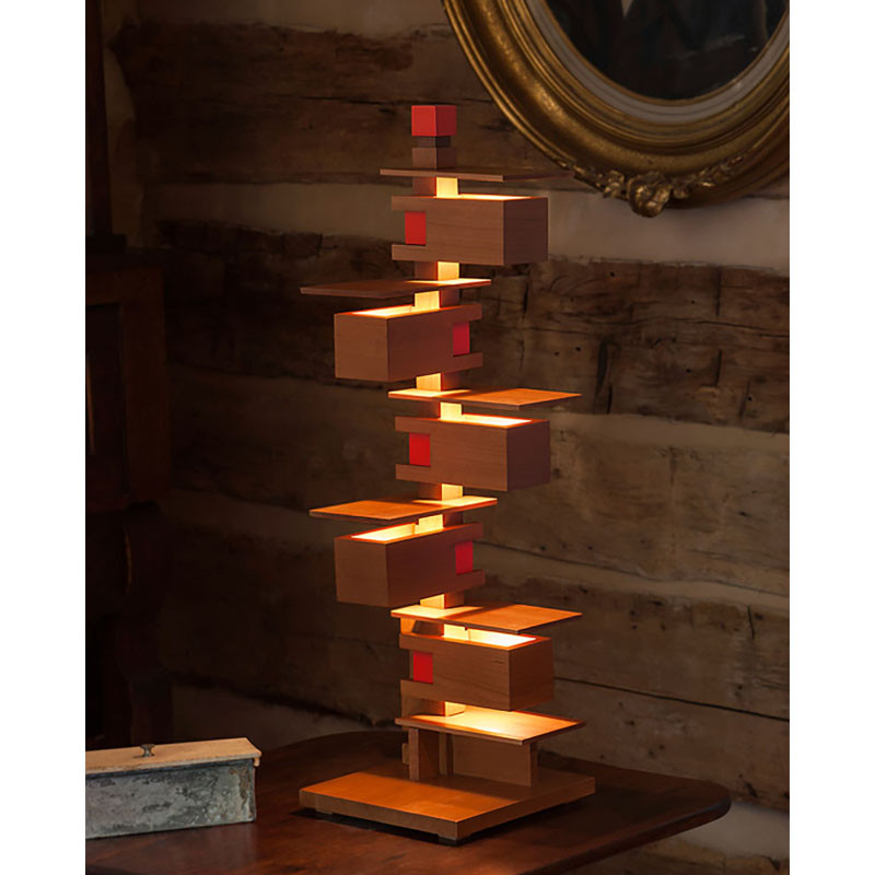 Frank Lloyd Wright Taliesin 3 Table Lamp Cherry