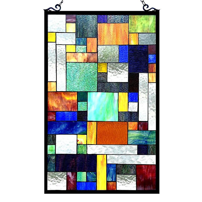 Avant Art Deco Glass Window Panel
