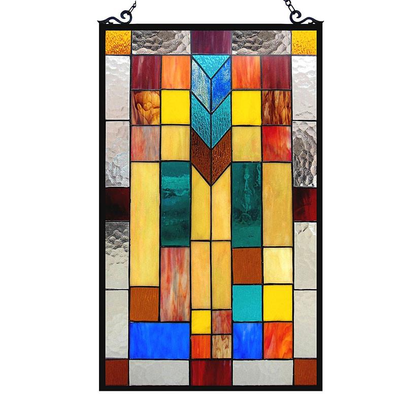 Tate Mosaic Art Glass Window Panel