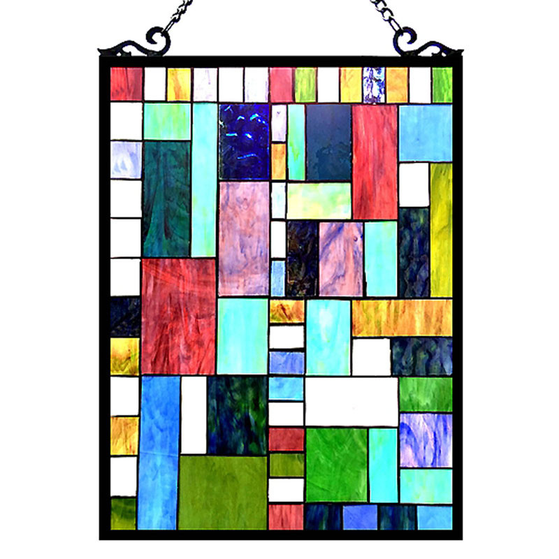 Art Deco Glass Window Panel