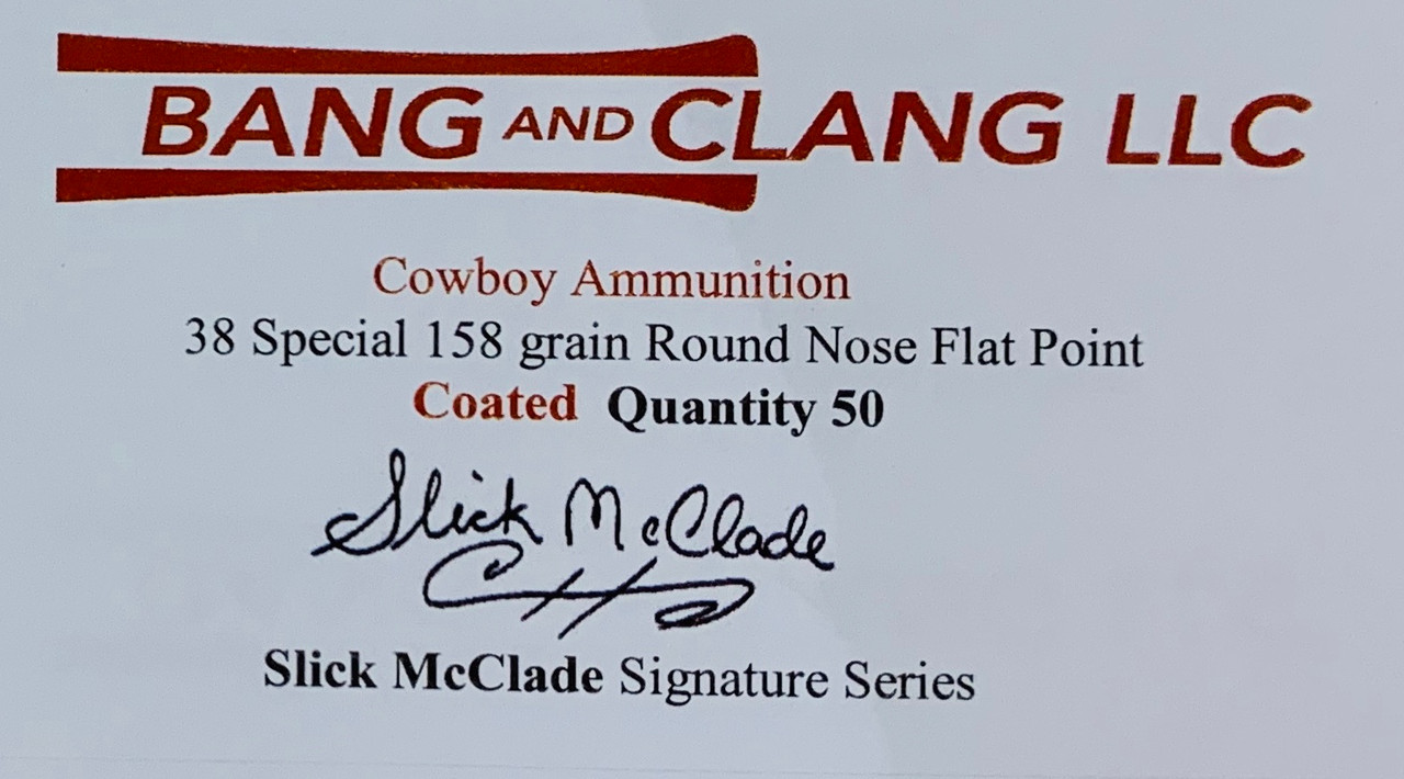 Slick McClade's 38 Special 158g RNFP Coated Bullets